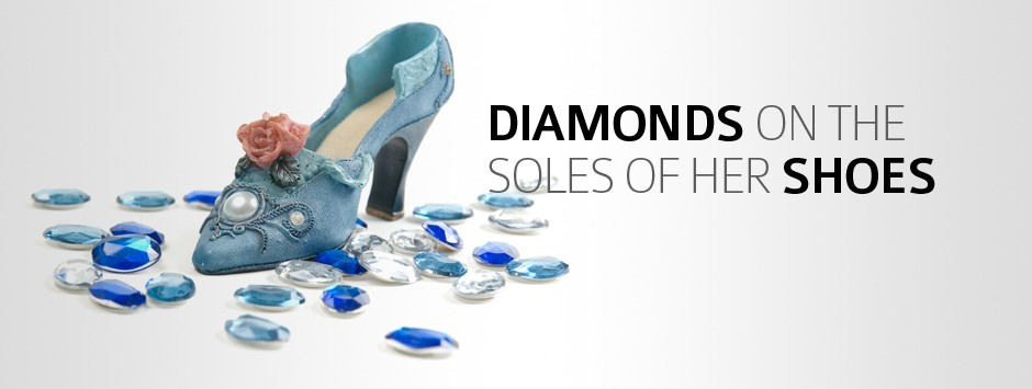 Diamonds on the soles of her shoes
